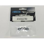 6103-RZ-SET ABEC35 CUSCINETTO 6X10X3 STEEL + RUBBER KIT 4PZ